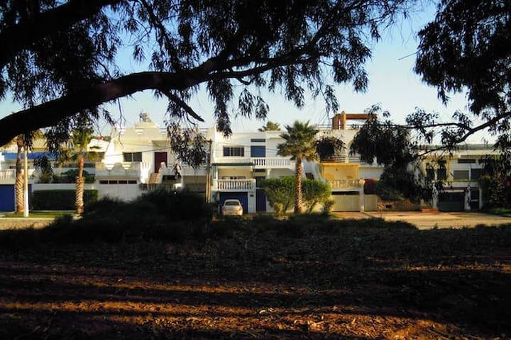 Villa jardin face à la grande plage