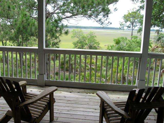 Fripp Island, Beautiful Marsh House - Fripp Island - Hus