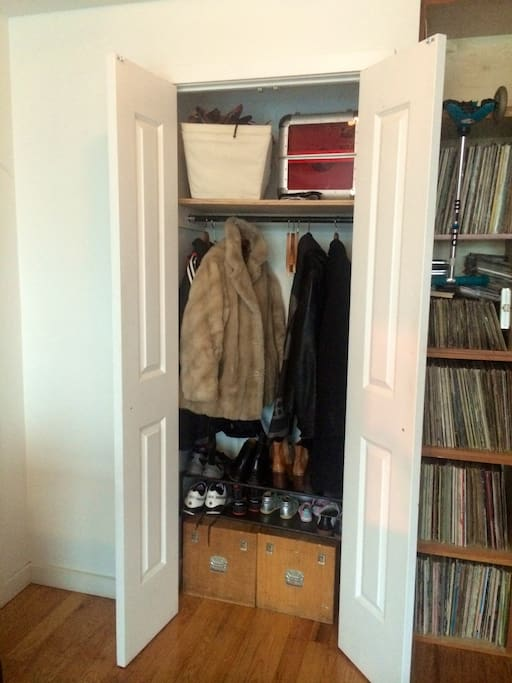 Closet at entrance