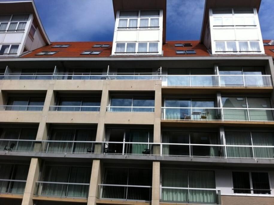 appartement op 2de verdieping