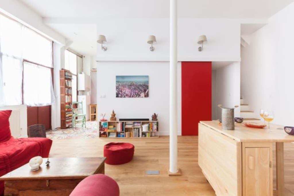 Atelier d 39 artiste loft 65m2 appartements louer paris le de france - Location atelier artiste paris ...