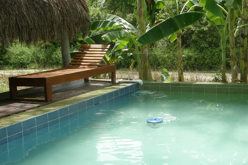 Take a dip in the plunge pool.