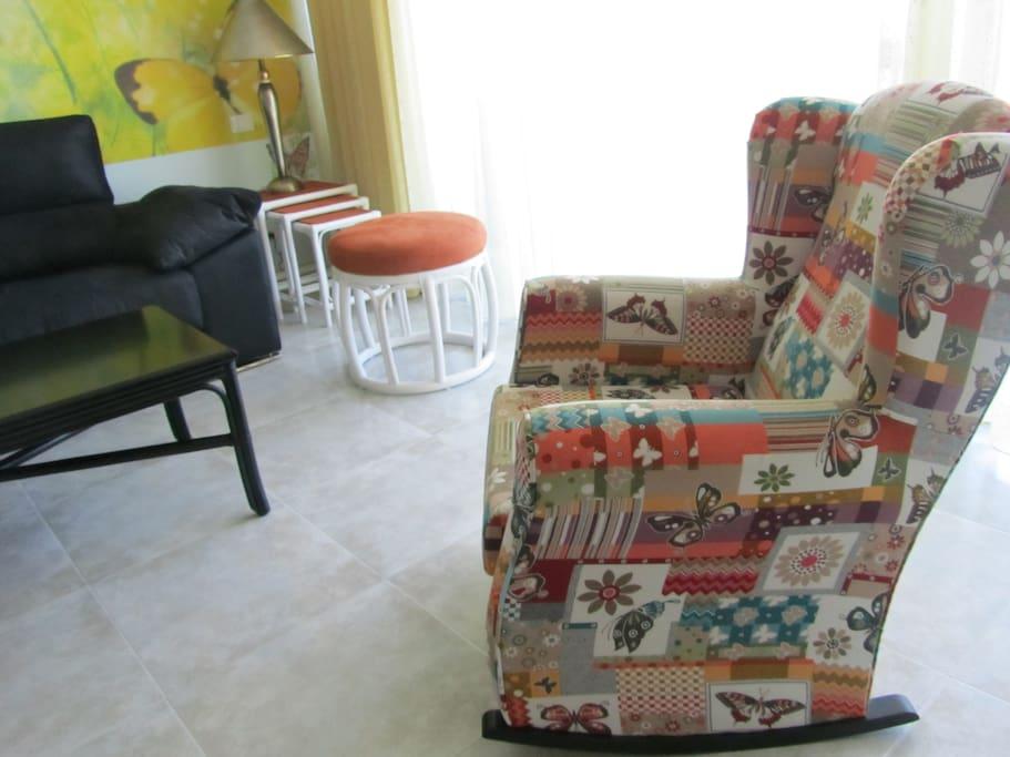 Im Schaukelstuhl kann man sich gut entspannen
