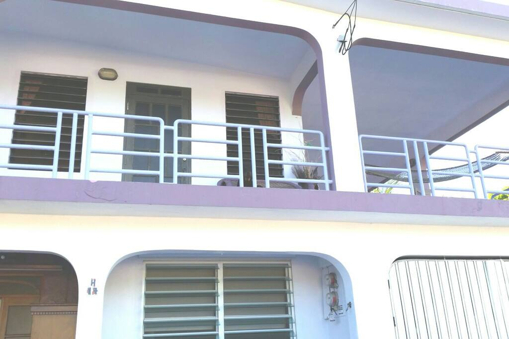 2 BR Apt is on the second floor, with a wrap around balcony