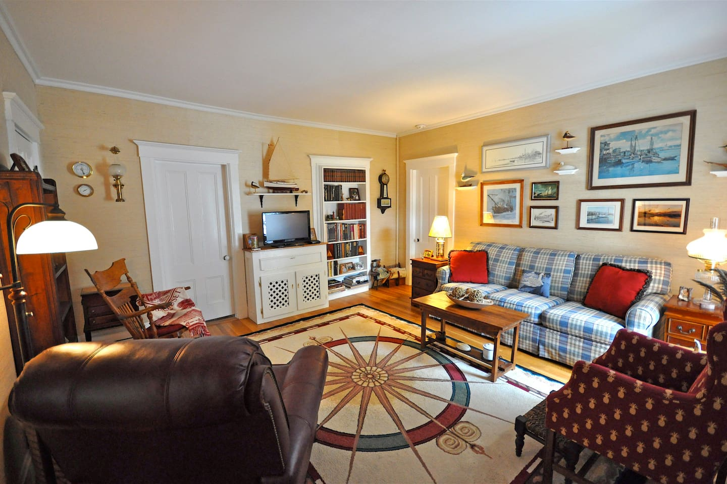 Your private suites. Sitting room off queen bedroom and private bath
