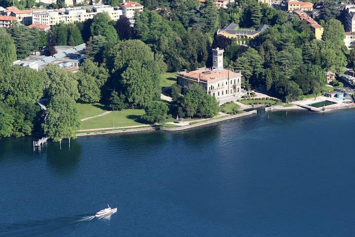 La più bella vista del lago di Como