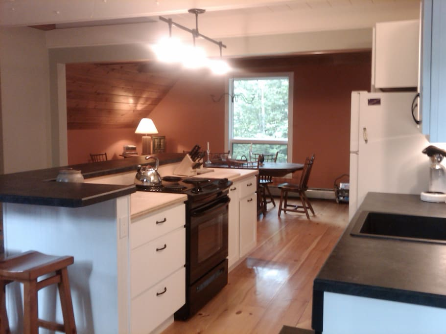 Fully equipped, open kitchen