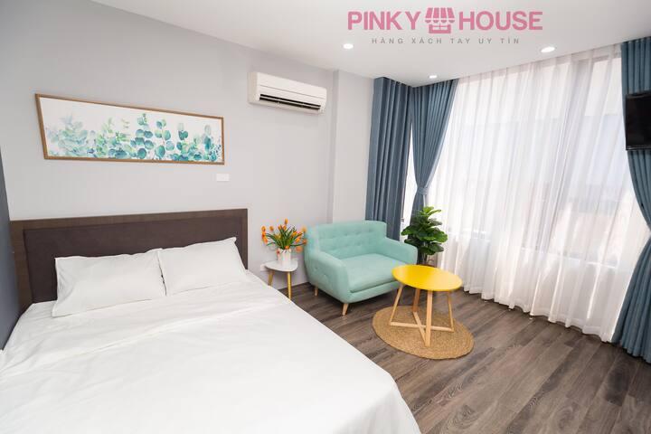 Pinky House 4.1- 1br apartment near Hoang Cau lake