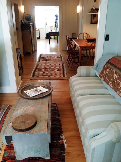 Open floor plan makes a very comfortable sociable space
