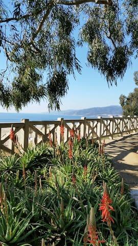 Palisades Park looking toward Malibu is just a short walk