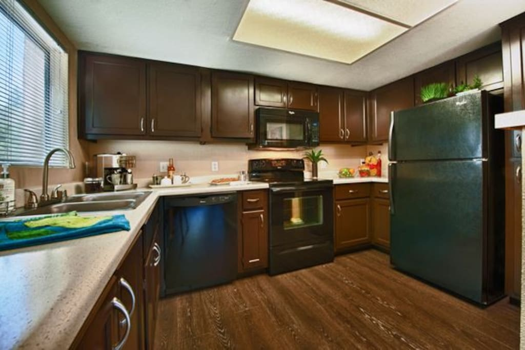 Kitchen, modern appliances