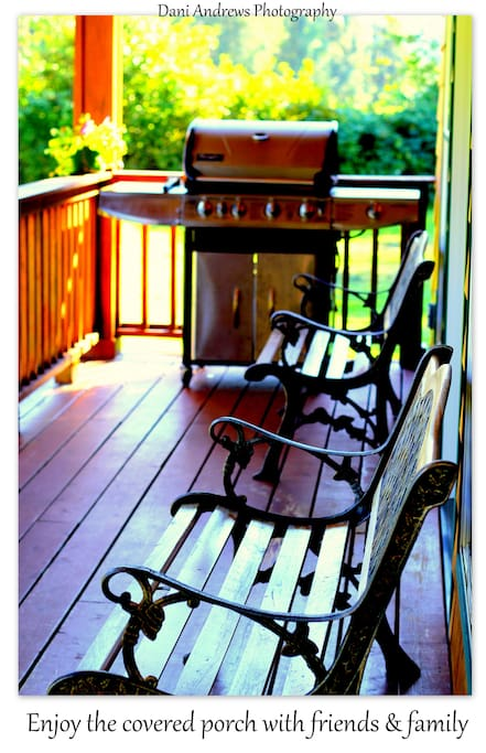 Enjoy wildlife and gorgeous views from the covered front porch