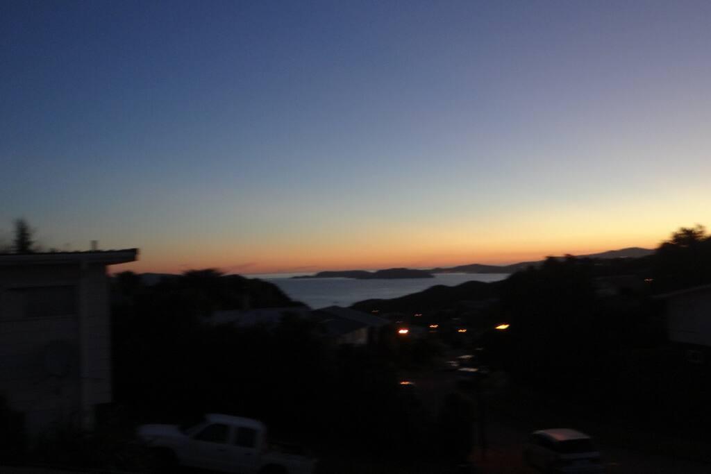 Beautiful views over Wellington Harbour
