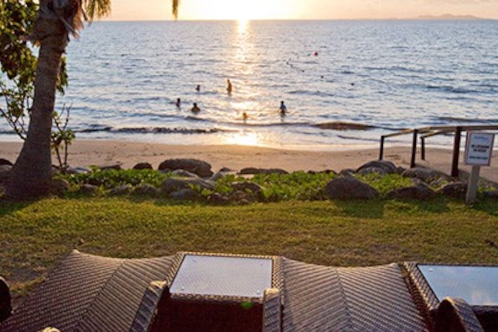 Enjoy the sunset over the water each night.