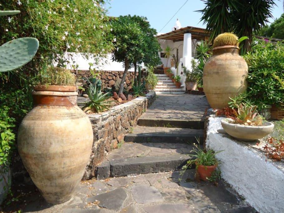 Villa a salina lingua ville in affitto a lingua salina for Salottini in vimini