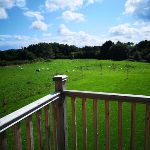 A countryside view from your room