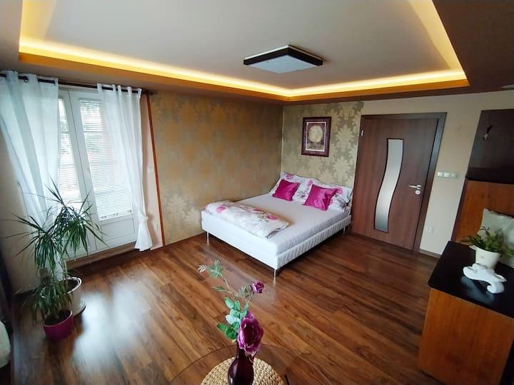 Luxusní apartmán poblíž centra pro klid a relaxaci
