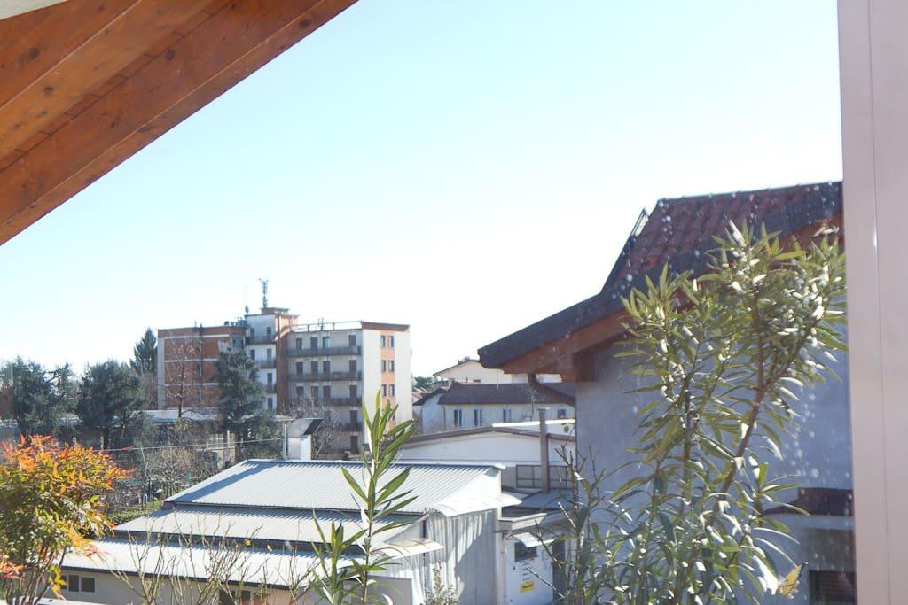 La vista dal terrazzo a Sud
