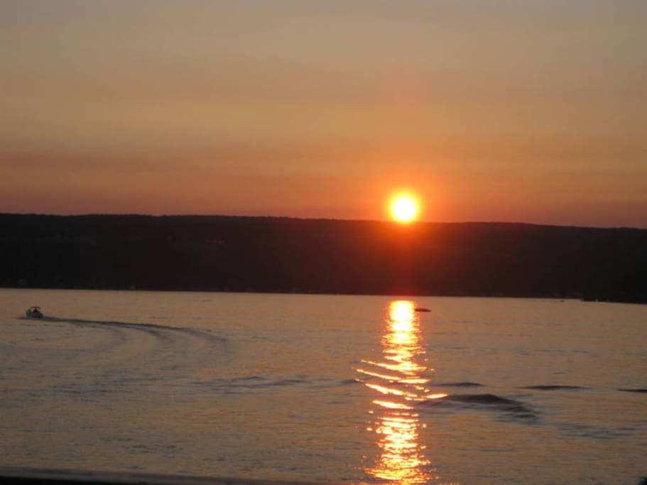 Within minutes from sunsets like this on beautiful Keuka Lake.
