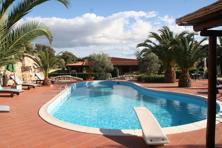 House with swimming pool,  in 3 hectares of Mediterranean scrub and fruit trees.