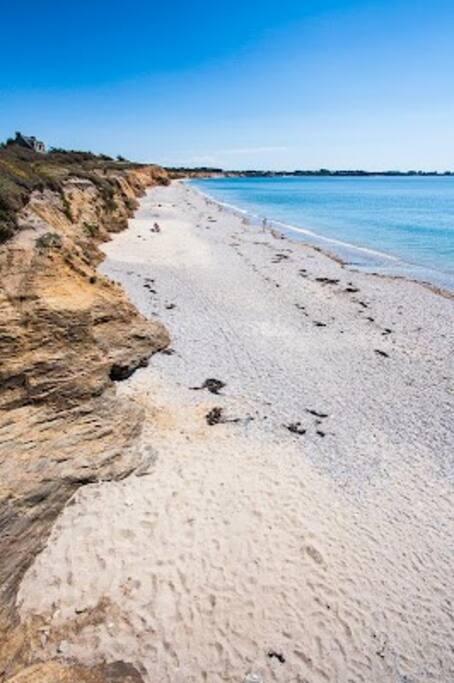 belle plage à 5 min à pied- site classé