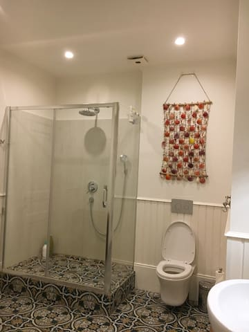 Master bathroom with shower