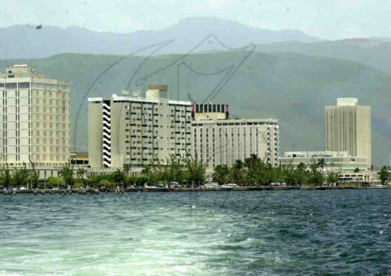 Apartment on the now vibrant Kingston Harbour overlooking the Caribbean Sea.