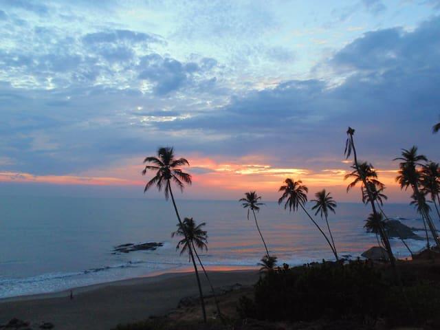Little Vagator Beach Monsoon sunset