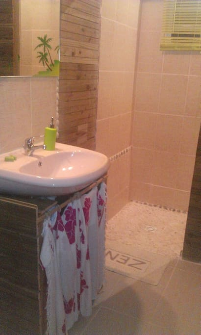 douche à l'italienne dans votre chambre