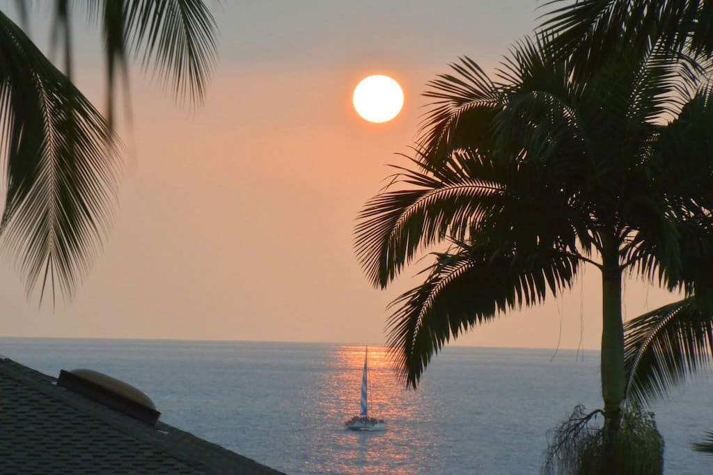 Sunset view from top Lani