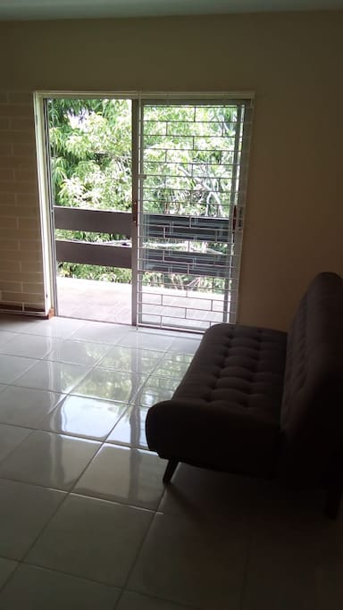 Living room and Patio with Sliding Door