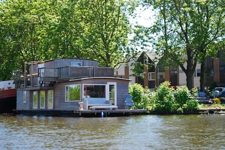 Charming house Boat,Alkmaar, unique location - Barco