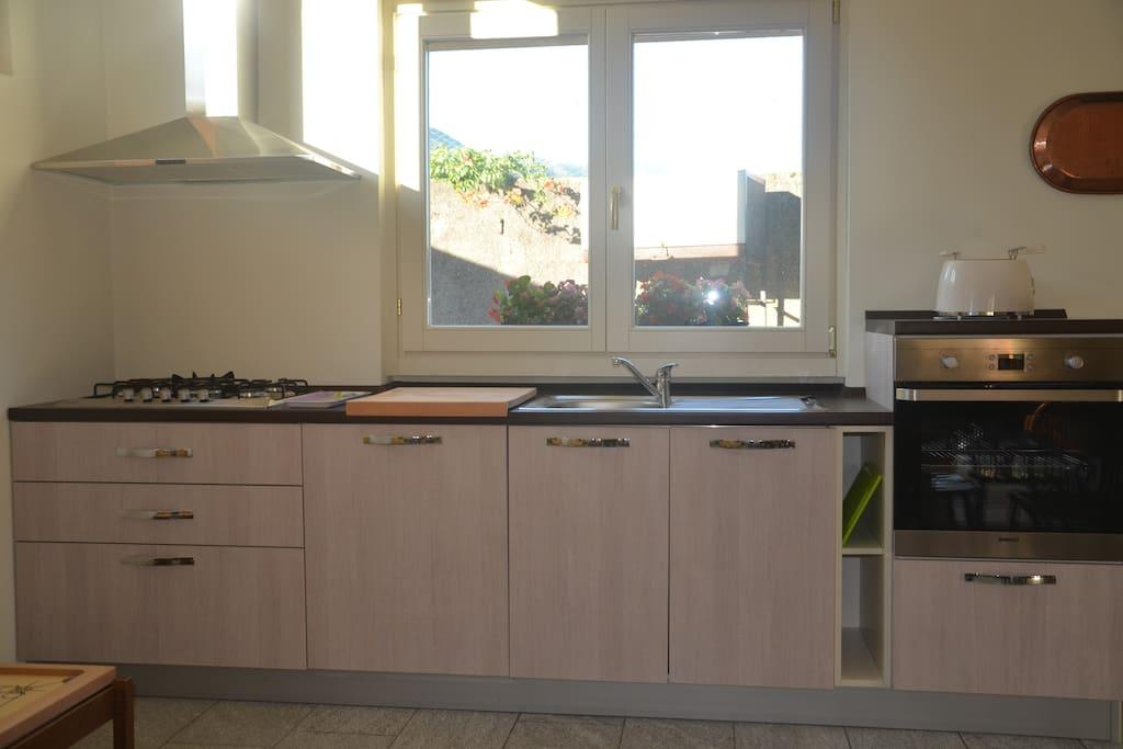 The kitchen in detail