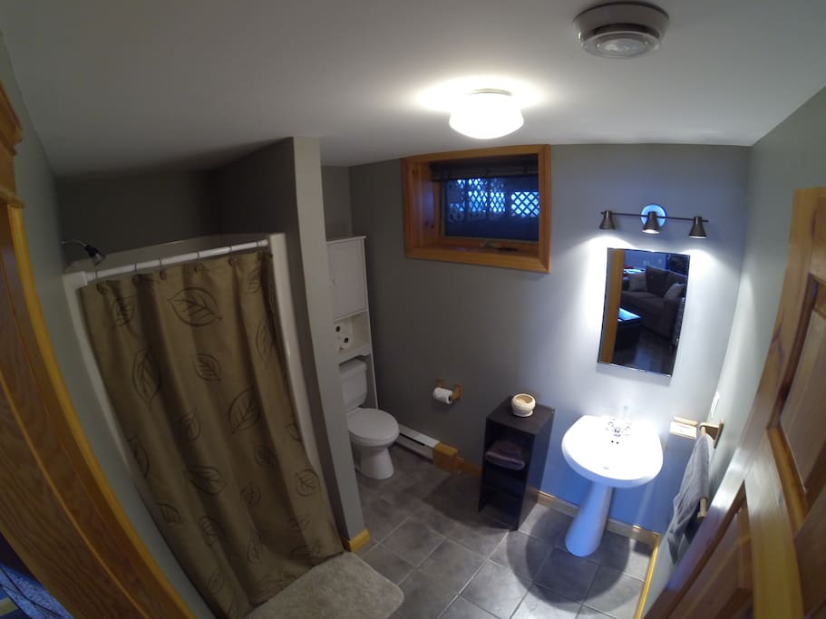 Private Bathroom with shower, towels, & soap provided
