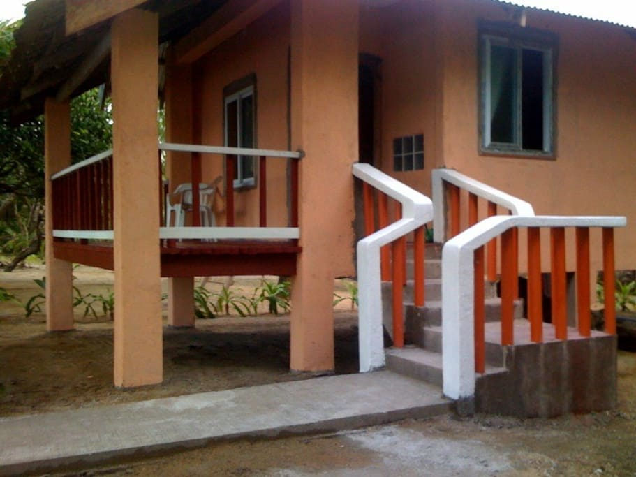 Cottage entrance and veranda