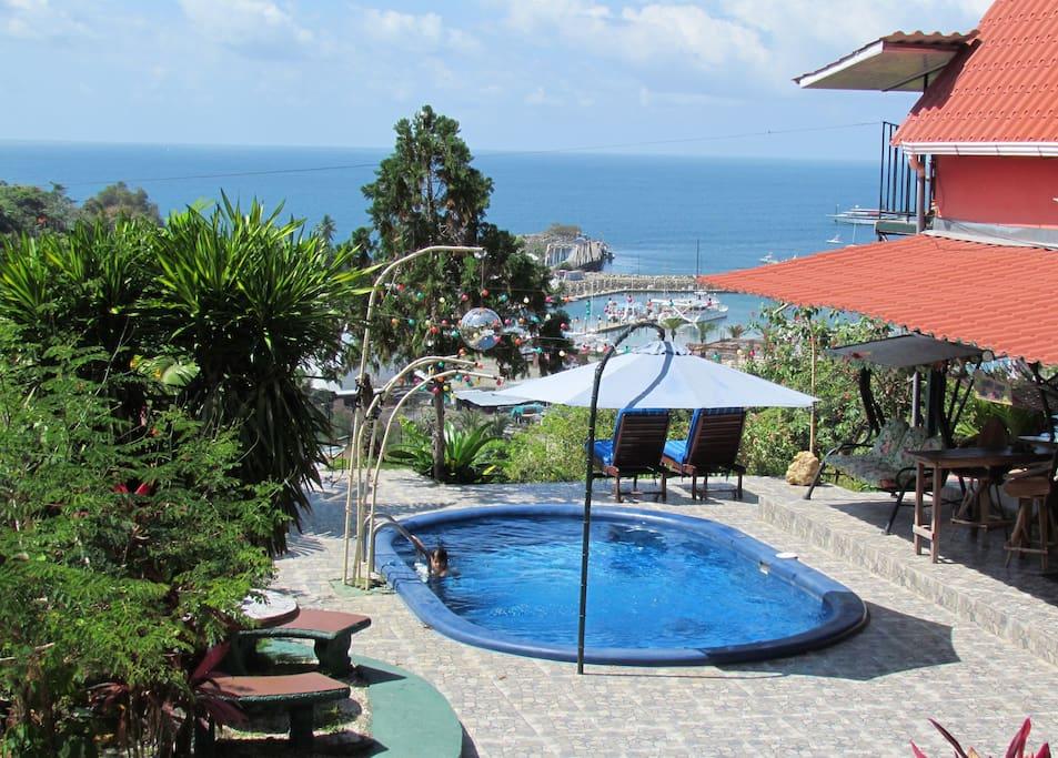 Enjoy the refreshing pool