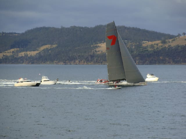 Every year in late December the Sydney to Hobart Yacht race goes past the house.