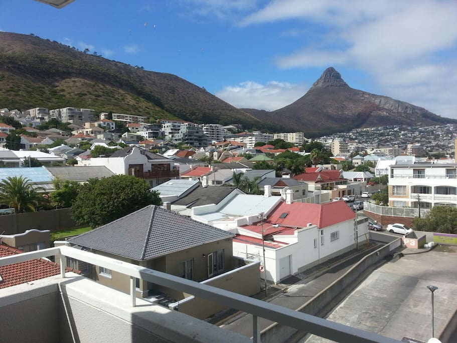 View of Lion's Head, Signal Hill and the whole of Sea Point from the balcony