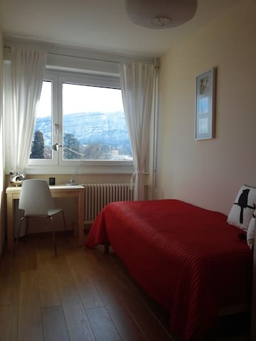 GVA: Mont Blanc and Jet d'Eau view.Affordable room - Lancy - Apartamento