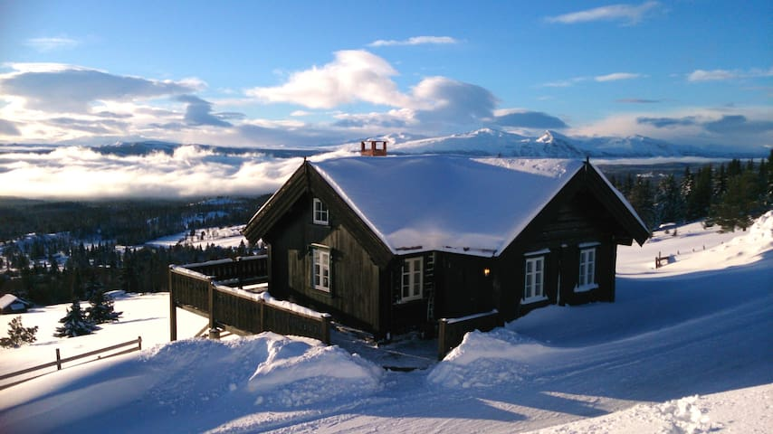 Panoramautsikt på Golsfjellet - Gol - Stuga