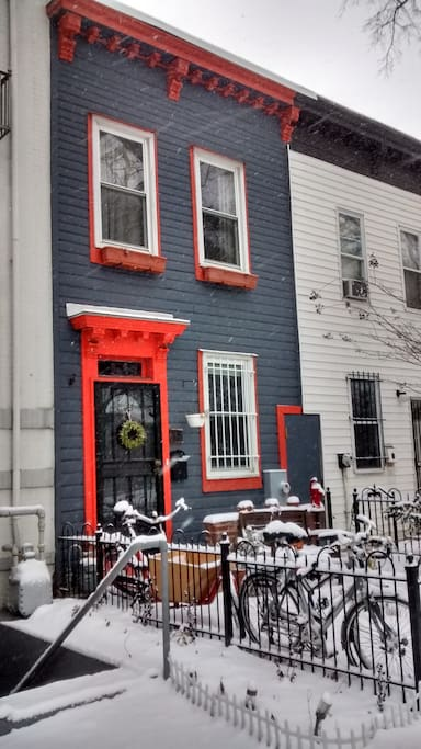 Our happy house in the wintertime.