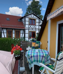 Apartment mit Balkon in der Pension 'Idyll'