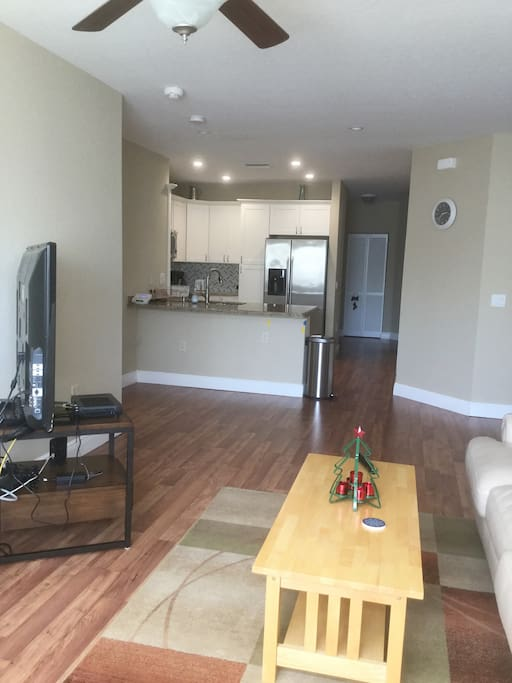 Comfortable and spacious living and dining areas.