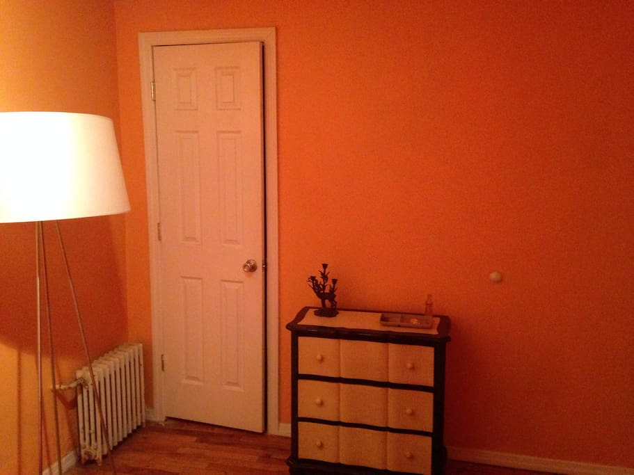 Dresser and closet in private room