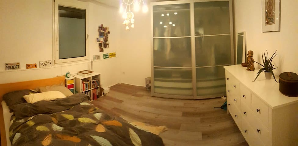 Cozy room in shared apartment with balcony