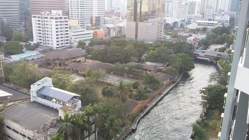 Klong Saen Sap view from Balcony