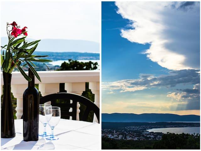 Lovely Studio Apartment with Balcony/Sea View - Malinska - Hus