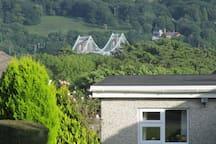View of the Menai Bridge from the garden.