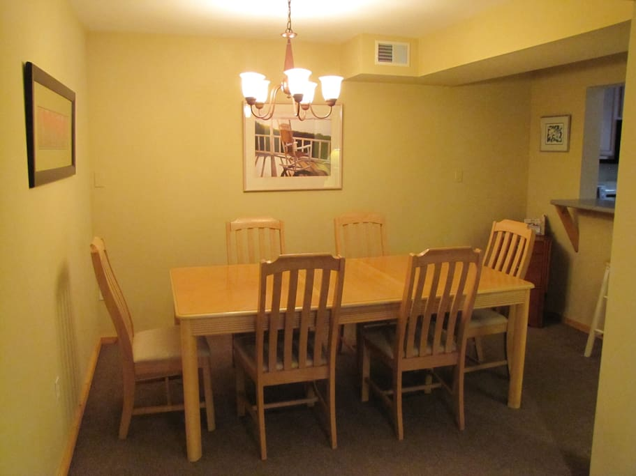 Common Dining area for myself and guests