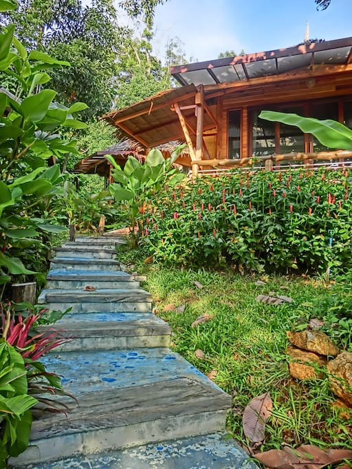 Natural atmosphere and lashed garden